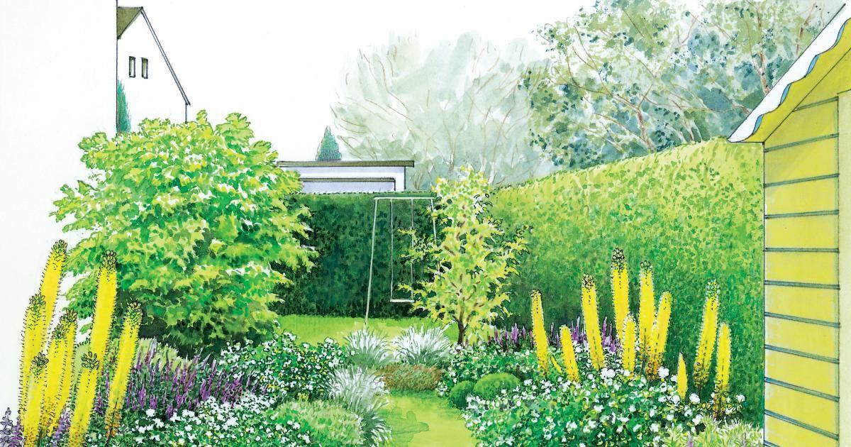 Ideen für einen schmalen Gartenstreifen Garden planning and Gardens - gartenplanung beispiele kostenlos