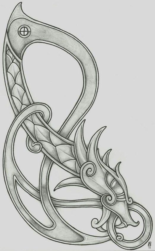 Vikingtattoo Viking Dragon Viking Tattoos Viking Dragon Norse Tattoo
