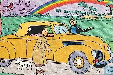 Carte postale - Bande dessinée: Tintin - Kuifje Q8
