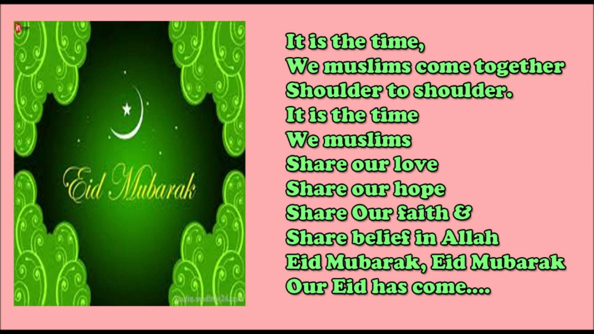 Eid Mubarak Poem For Kids Short And Sweet Poem On Eid Youtube