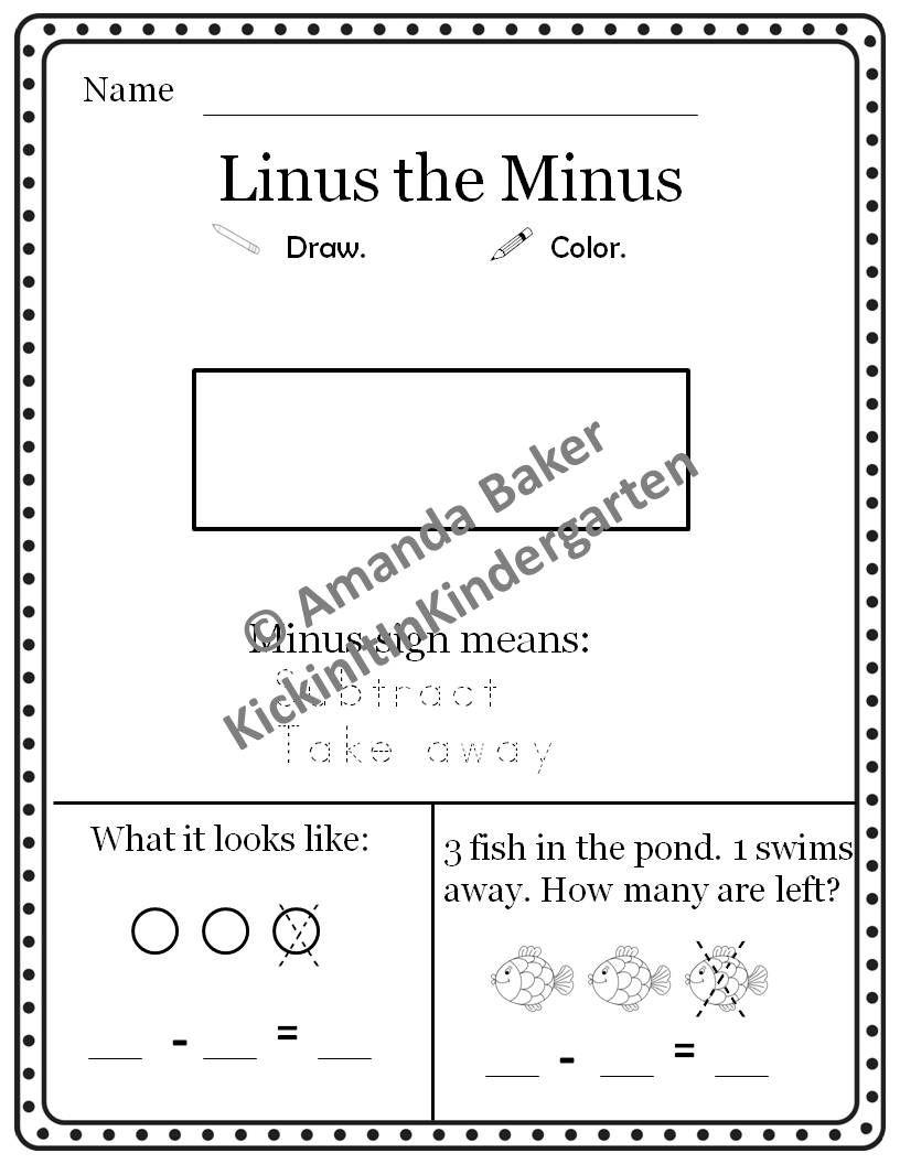 Linus The Minus Subtraction Story Problems Worksheets Mini Books Word Problem Worksheets Subtraction Word Problems Word Problems Kindergarten [ 1056 x 816 Pixel ]
