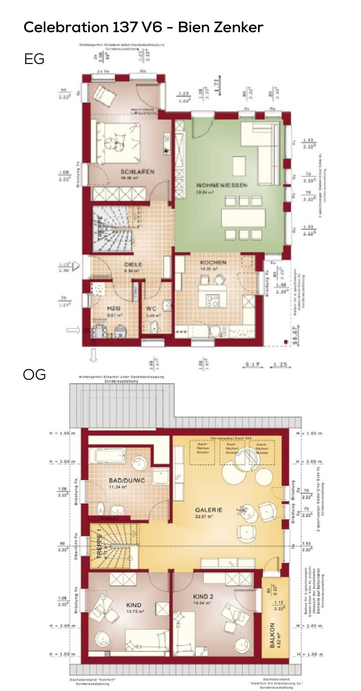Grundriss Einfamilienhaus rechteckig im Landhausstil