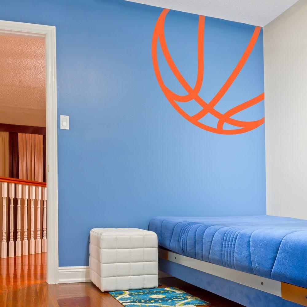Boys Basketball Bedroom Ideas - Corner basketball wall art decal basketball room decorbasketball