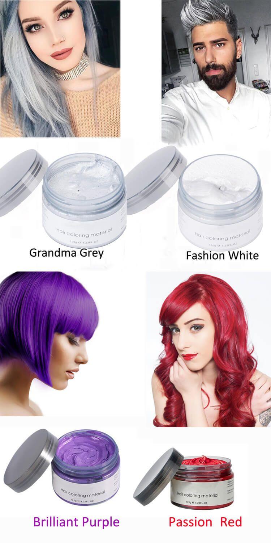 Best Selling Hair Color Wax Hair Wax Temporary Hair Color Hair Color Cream
