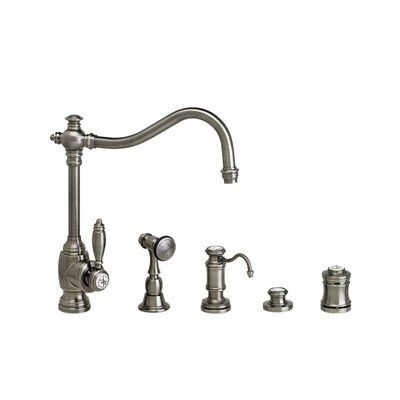 Waterstone Annapolis Single Handle Kitchen Faucet With Side Spray