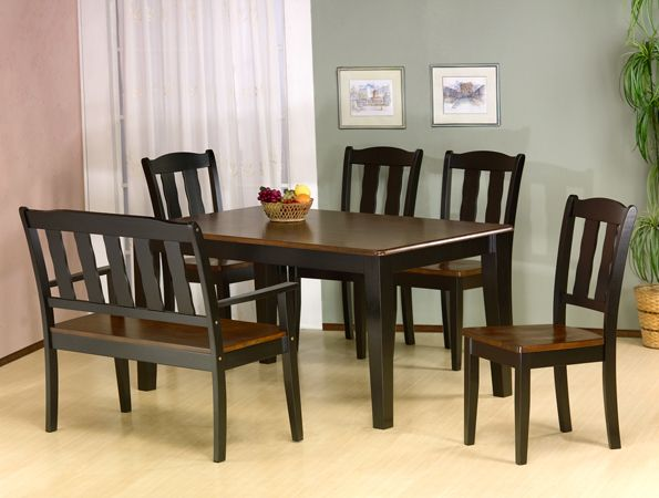 7700 Casual Twotoned Dining Room Set In Solid Wood Features A Unique Dining Room Sets Online Decorating Design