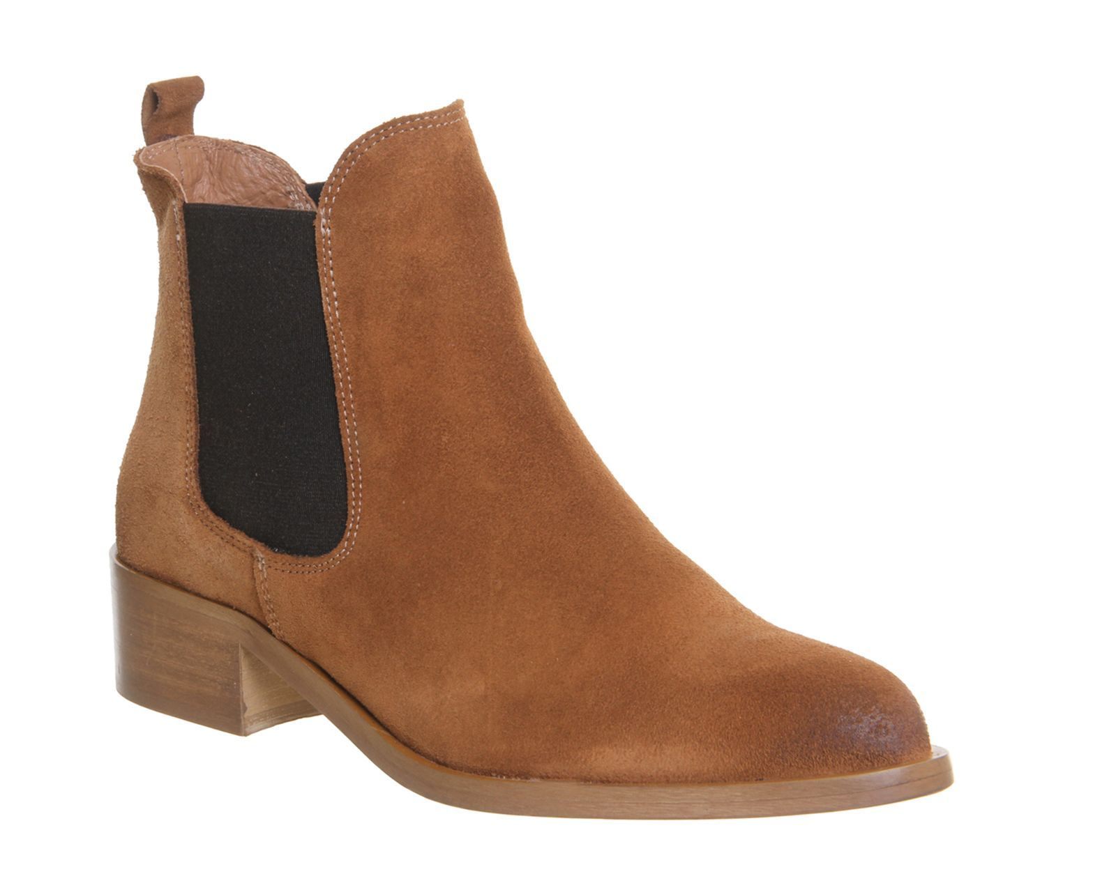 Office Corsa pointed block heel boots, Tan