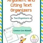 "FREE! Two organizers that are common core aligned:  Argument organizer - pose a question, have students fill out ""yes"" and ""No"" reasons, allow them to ch..."