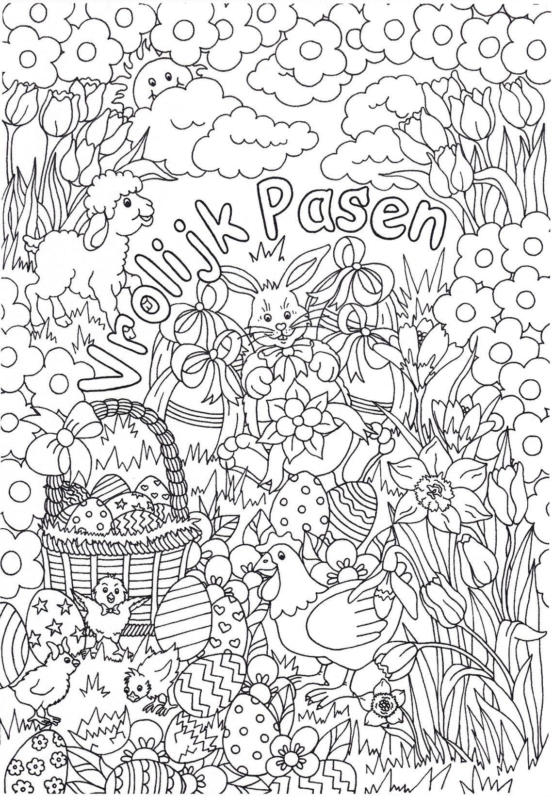 Pin Van Mariet Slot Op Kleurplaten Pasen Zwart En Witte Achtergrond Kleurplaten Knutselen Pasen