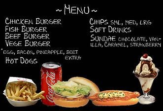 Mod The Sims - Fast Food Menu | The sims 2 downloads | Sims