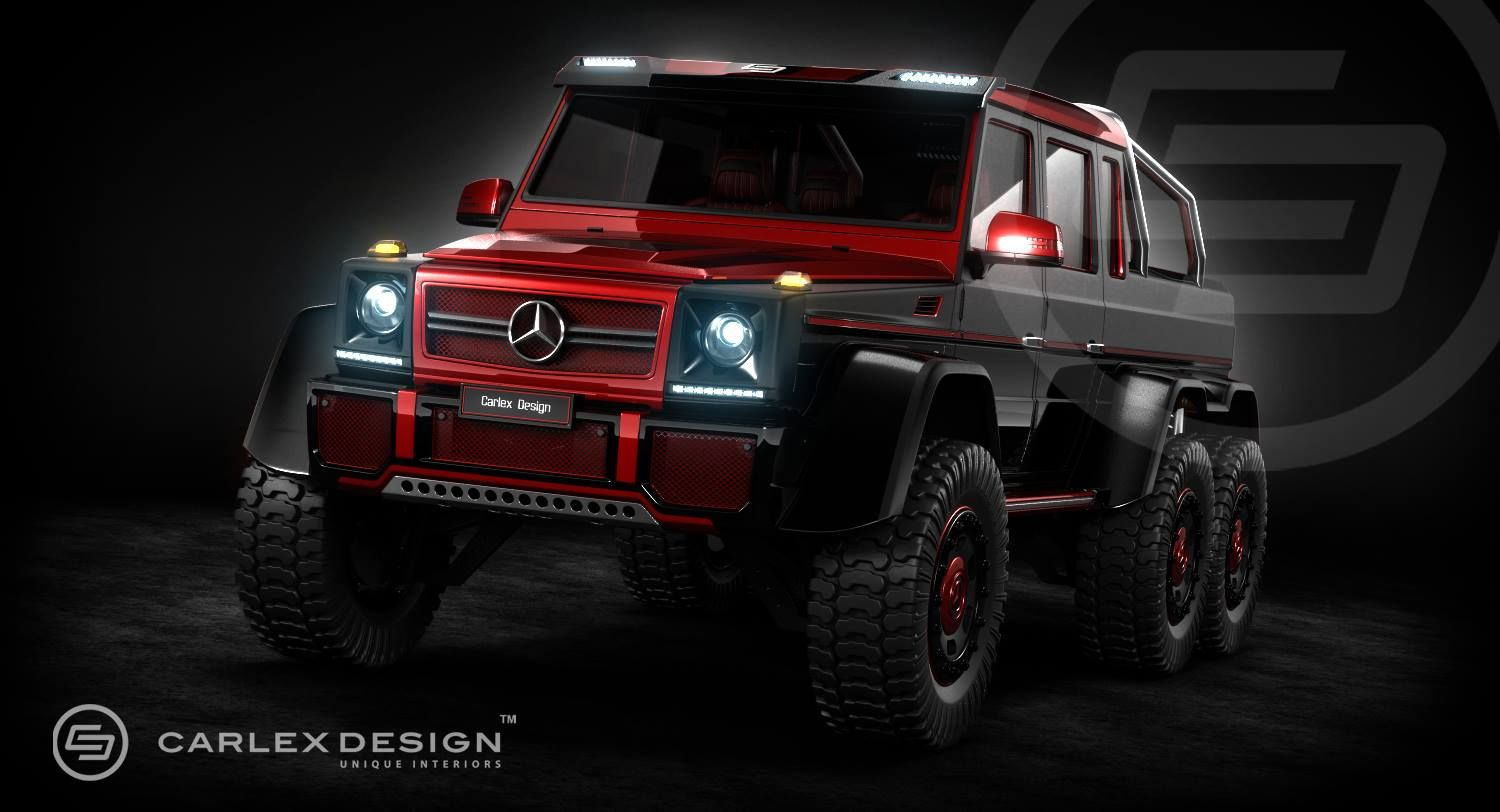 Awesome Red And Black 6x6 Amg Mercedes G Wagon Mercedes G63
