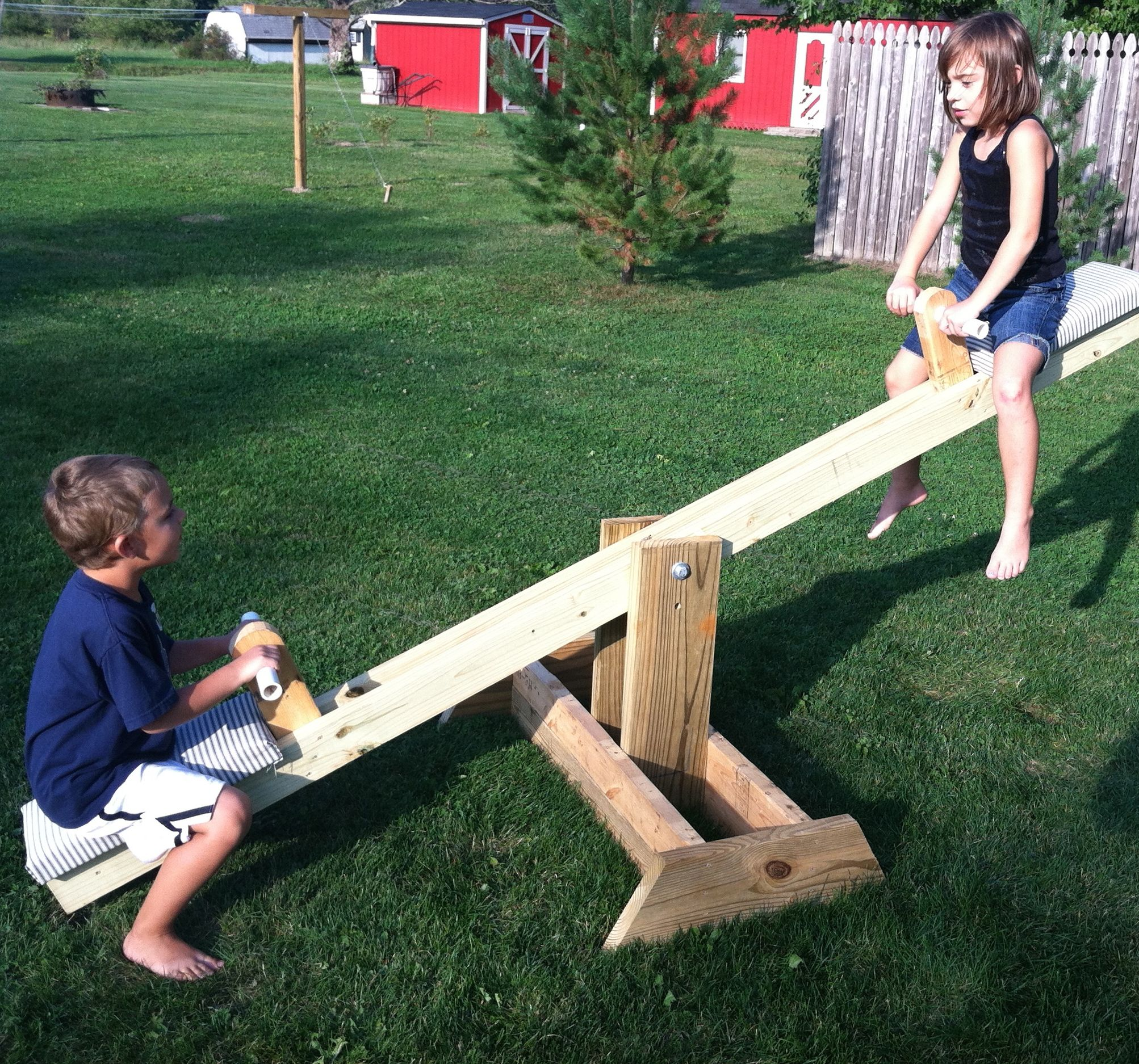 DIY Ana White Teeter Totter/ Seesaw From Scrap Wood