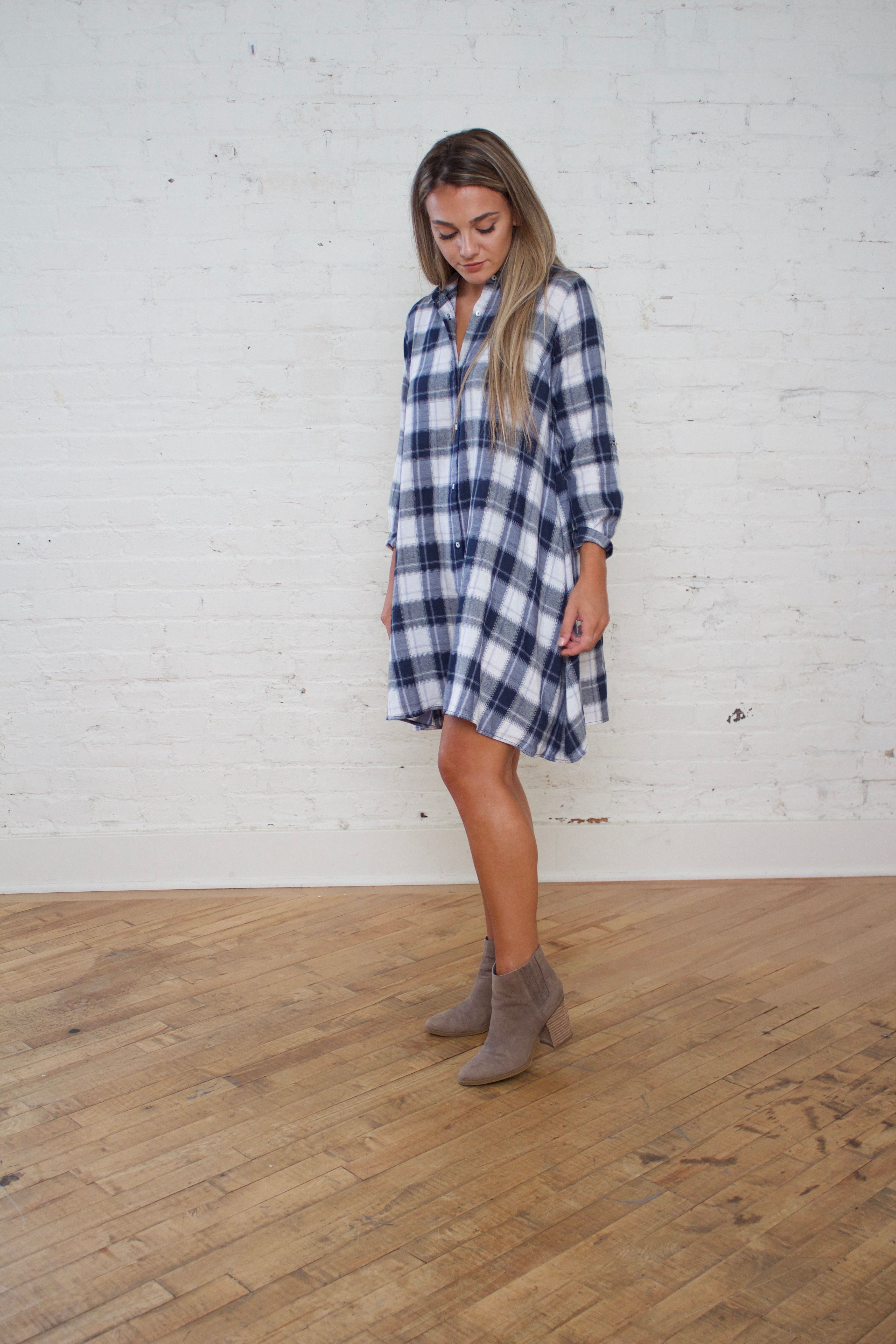 Flannel homecoming dress  Everest u Co  Womenus Style  Spring Dress  Flannel Dress