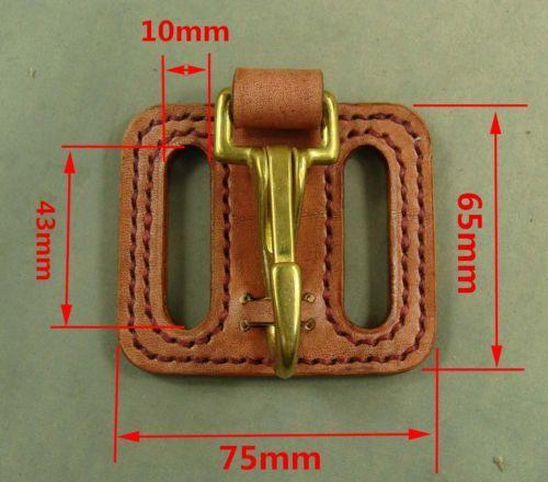 Chrome Plated Brass Belt U Hook Keychain Key Ring Wallet Biker Vintage Fob Clip