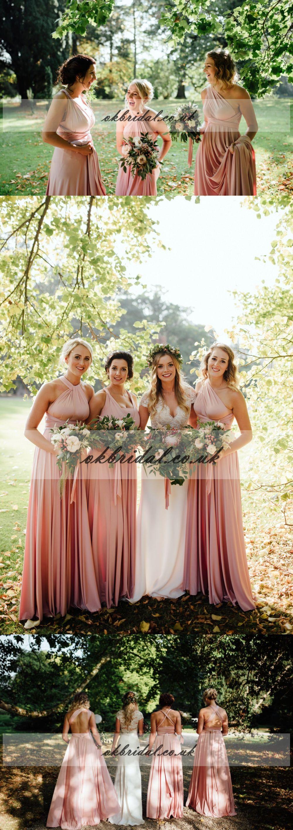 Convertible soft satin bridesmaid dress backless bridesmaid dress