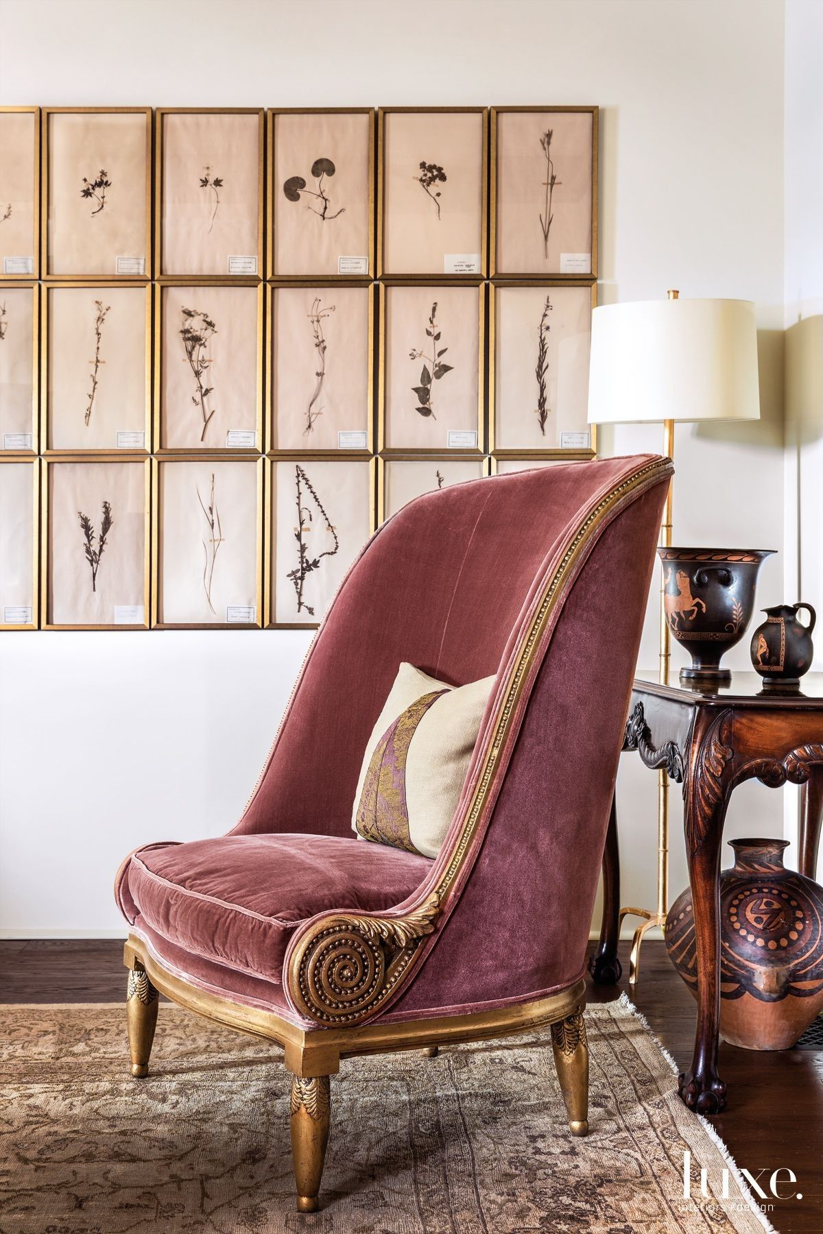 19th Century Drawing Room: Hajj Designed The Art Deco-style Gilt Chair That Sits Atop