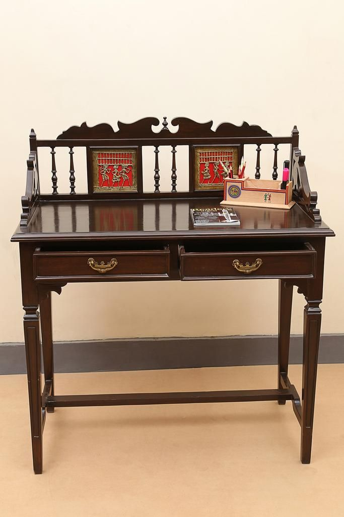 Teak Wood Study Table With Dokra Embellishments At Inr 19 000 Wood Bedroom Decor Furniture Study Table