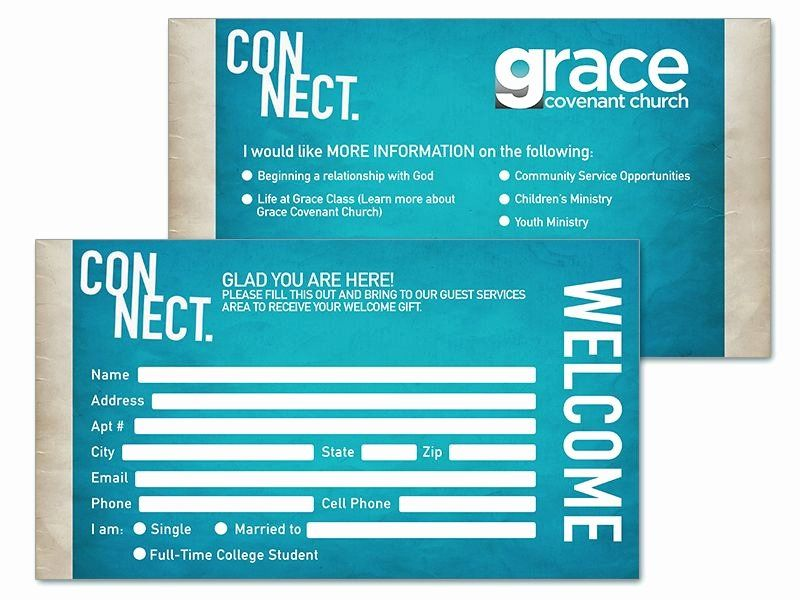 Church Visitor Card Template Word Lovely Connect Cards Church Google Search Card Template Church Contact Card