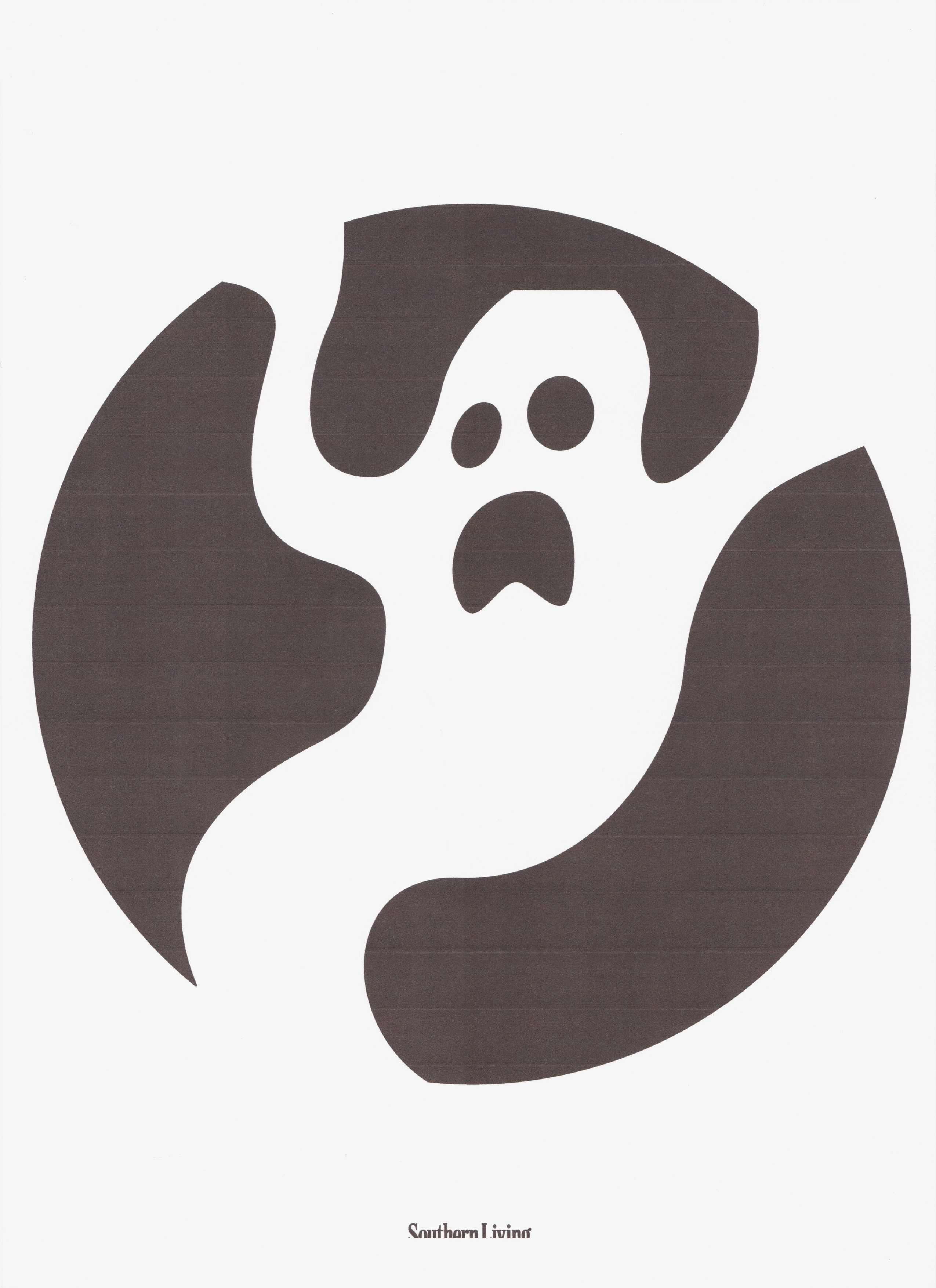 Ghost Pumpkin stencil | Boo! Happy Halloween! | Pinterest | Ghost ...