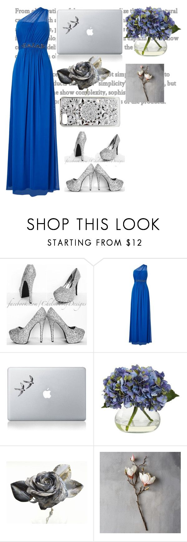 """""""Untitled #116"""" by angelinaryashko22 ❤ liked on Polyvore featuring Adrianna Papell, Vinyl Revolution, Nearly Natural, Barbed and Felony Case"""