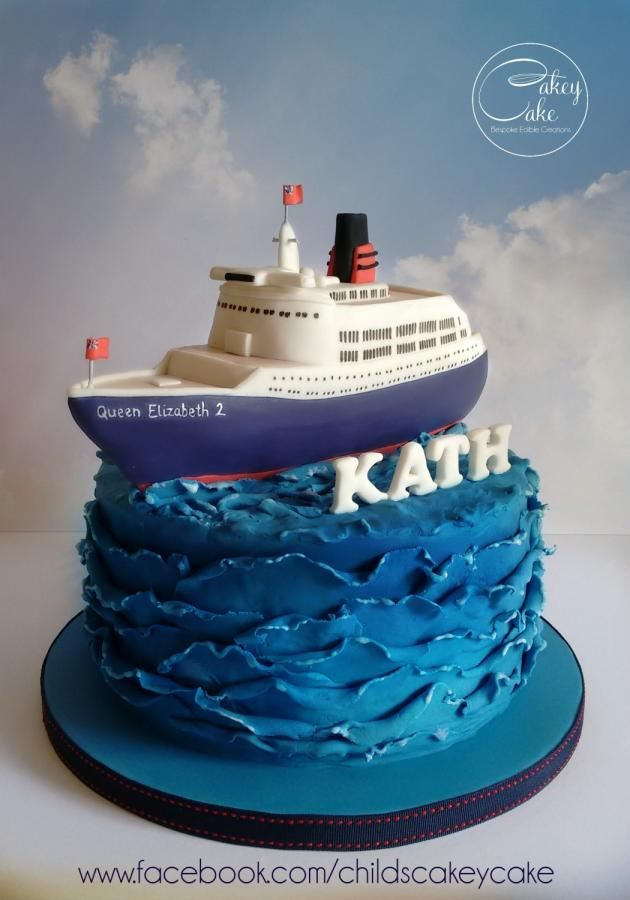 Tremendous Ship Ahoy Cake By Cakeycake Boat Cake Nautical Birthday Funny Birthday Cards Online Necthendildamsfinfo