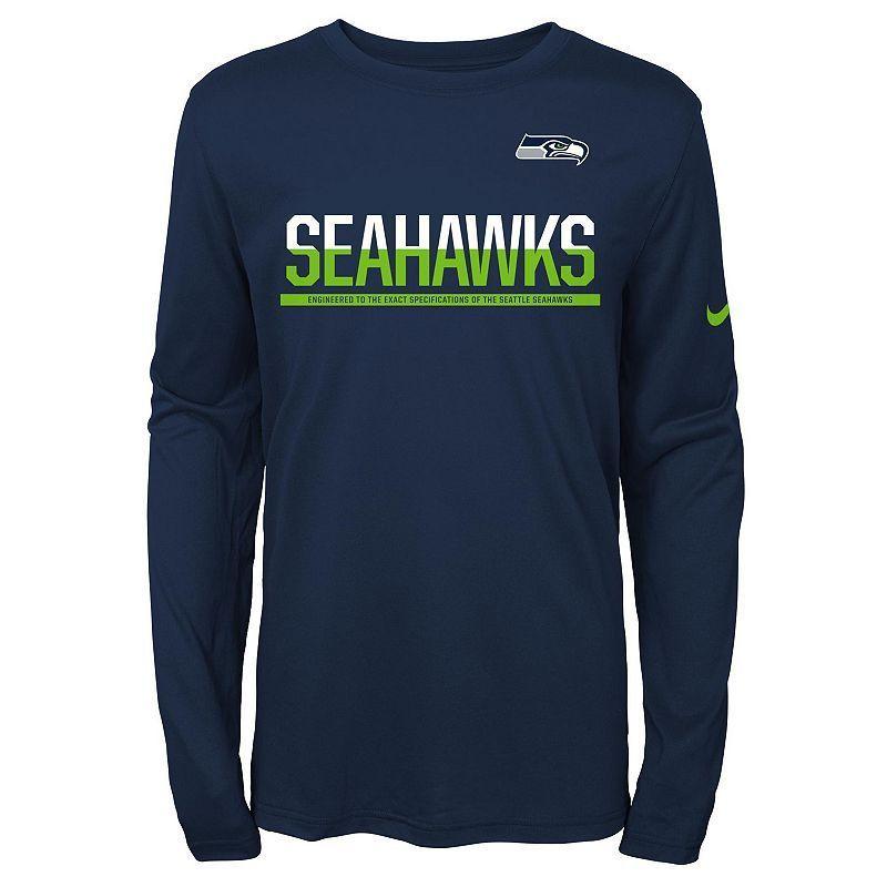 7486e9584 Boys 8-20 Nike Seattle Seahawks Practice Dri-FIT Long-Sleeve Tee ...