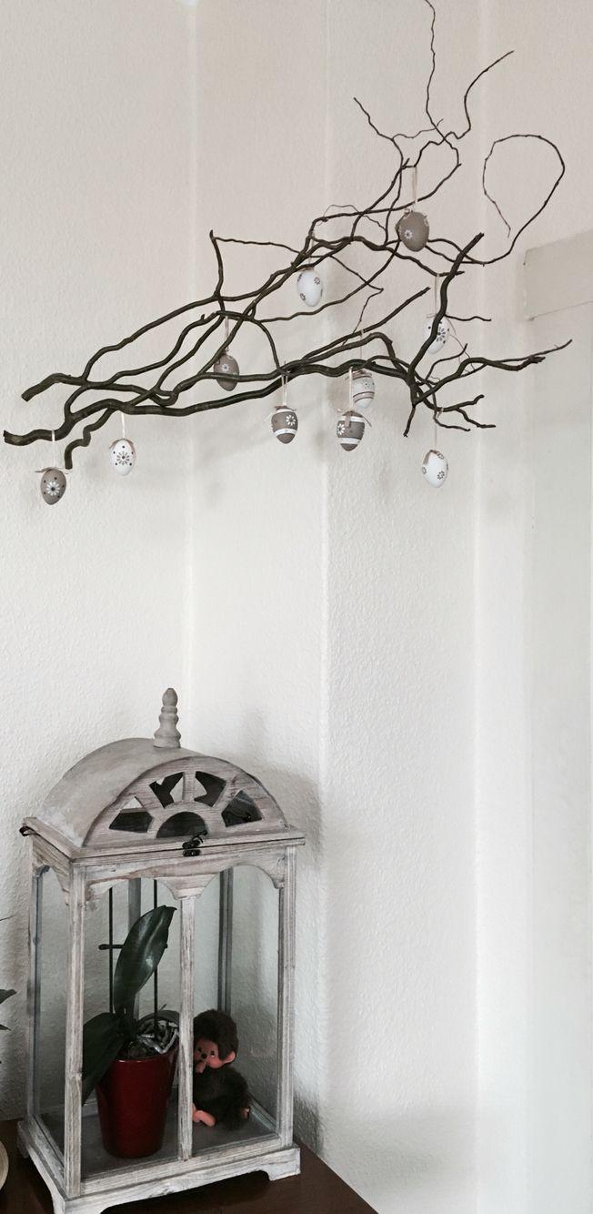 einige gro e ste der korkenzieherweide habe ich mit angelschnur an zwei harken an die decke. Black Bedroom Furniture Sets. Home Design Ideas