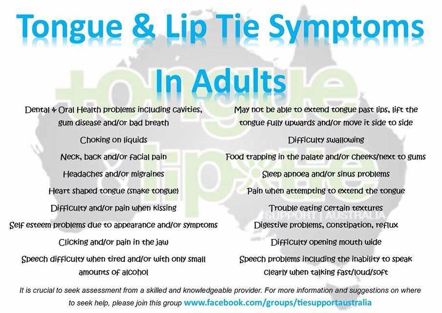 Tongue Lip Tie Symptoms In Adults