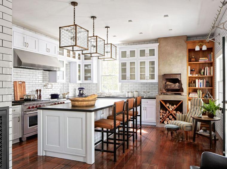 Decoración de cocinas americanas con diseño vistoso | Cocina ...