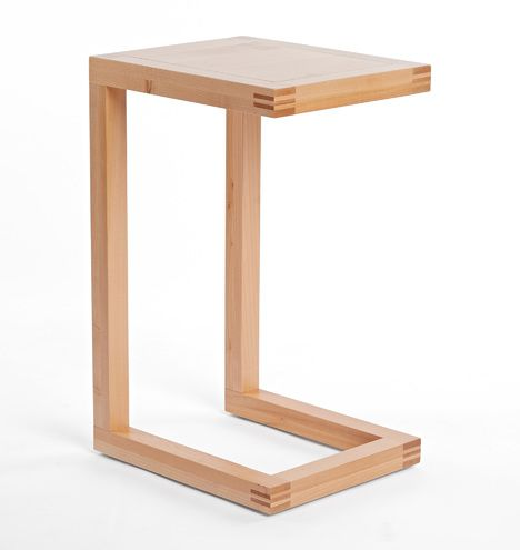 Brewer C Shape Side Table Maple D0747 Furniture Side Tables Modern Wood Furniture Side Table