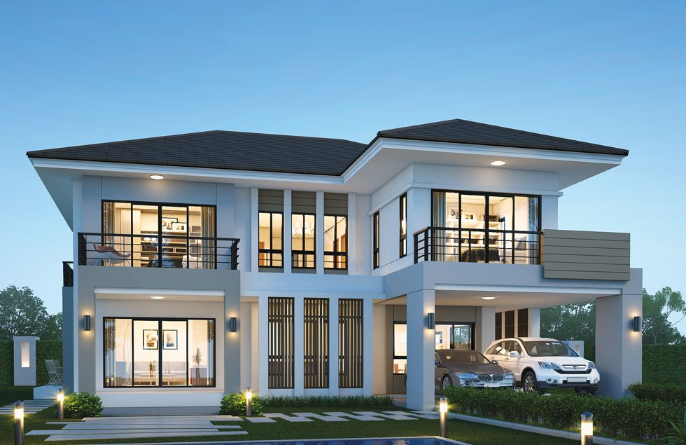 House Design Plan 14x14 5m With 6 Bedrooms House Plans 3d In 2020 Home Design Plans Modern House Design Bedroom House Plans