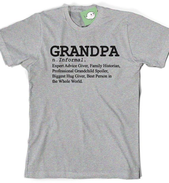 8246da80 Definition of a Grandpa Shirt Fathers Day T-Shirt T Tee Mens Gift Present  New Grandfather Pop-pop Papa Grandpop Pawpaw Papaw Dad Poppa Pops