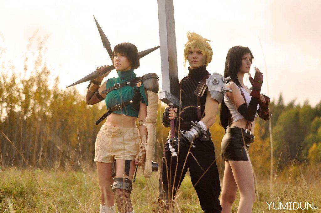 Yuffie Kisaragi, Cloud Strife, Tifa Lockhart (Final Fantasy VII) #AVALANCHE)