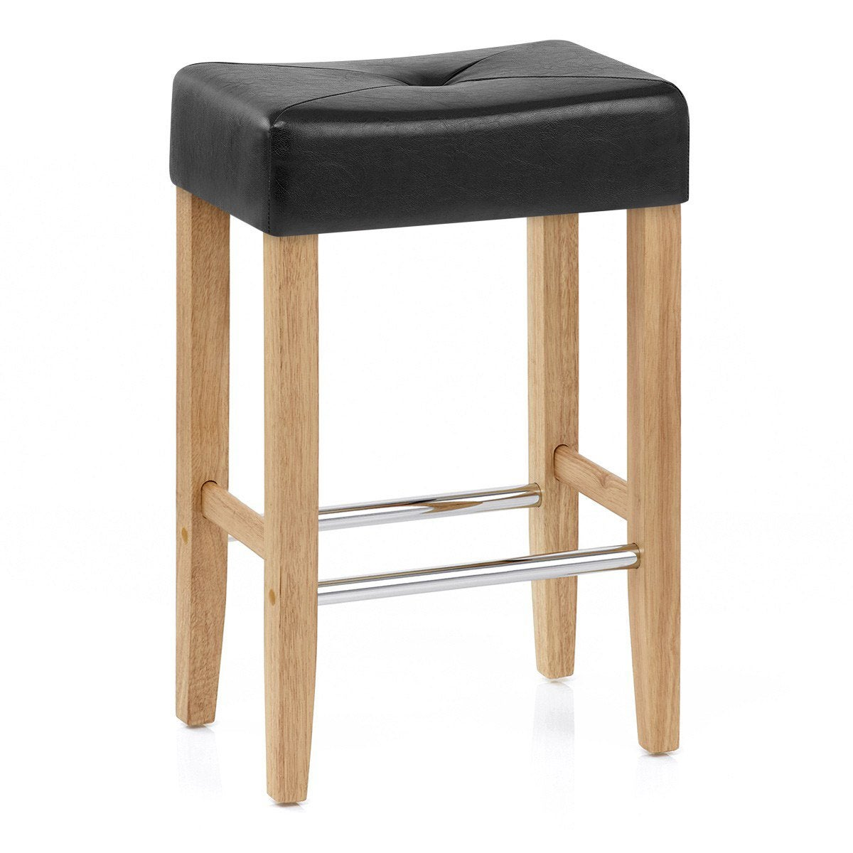 Tabouret De Bar Nature Simili Cuir Noir Otis Mdt Products En 2019 Tabouret Simili Cuir Et Bar