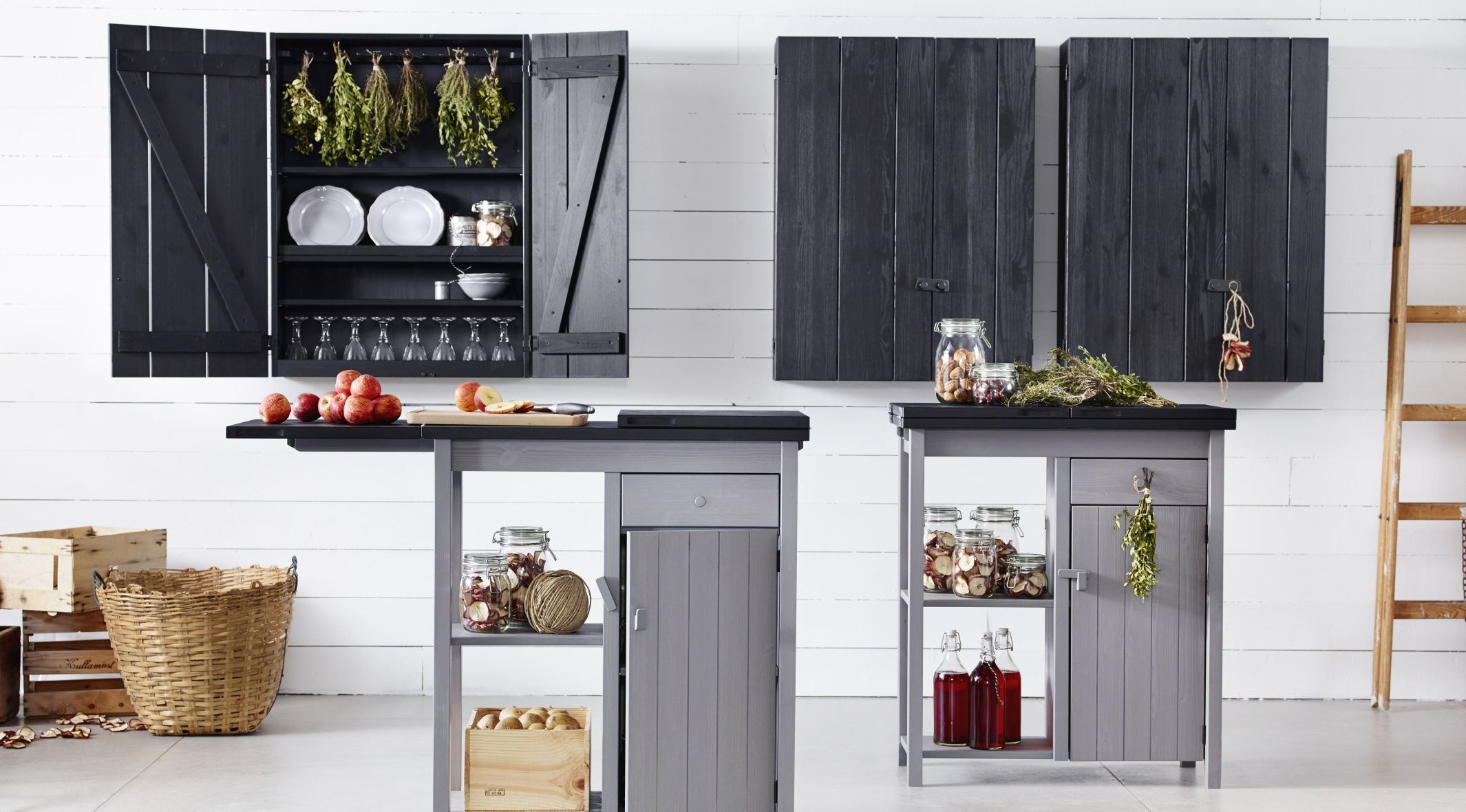 Ikea OLOFSTORP Wall Cabinets And Storage Units In Black Grey
