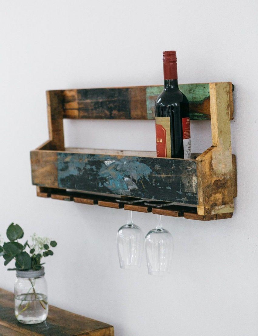 Reclaimed Hanging Wine Rack | Home | Pinterest