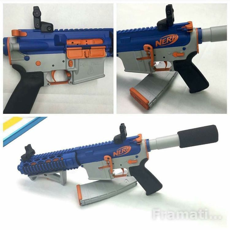Nerf Painted AR-15 5.56/.223 Bad Lever | Painted Blaster Props ...