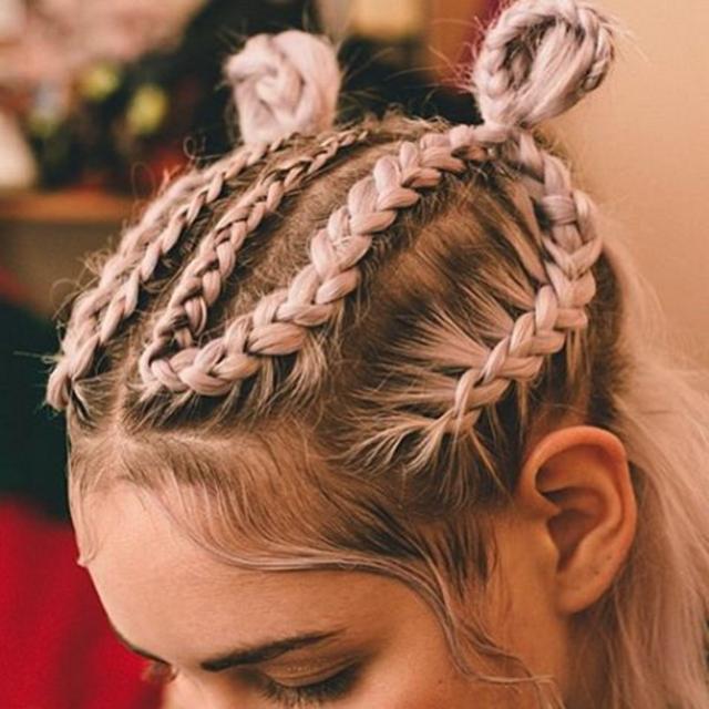 Keash Braids #braids - double buns - cornrows - Hair Pop | Hair Extensions - www.HairPop.net