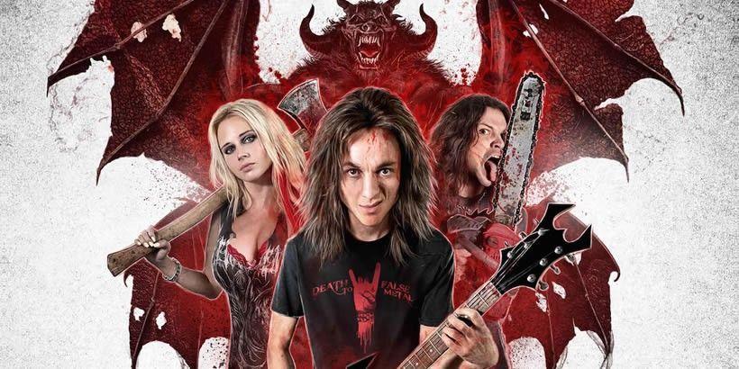 """""""Deathgasm"""" ist kurzweiliger Splatterspass für Metalfans! Zombie-Apokalypse, Kettensägen, rollende Köpfe und spritzendes Blut in Kombination mit einem passenden Soundtrack und Headbang-Garantie. Mit ungezügelter Energie zeigt eine Heavy-Metal-Band der Hölle den Stinkefinger und bietet Unterhaltung für Hartgesottene."""