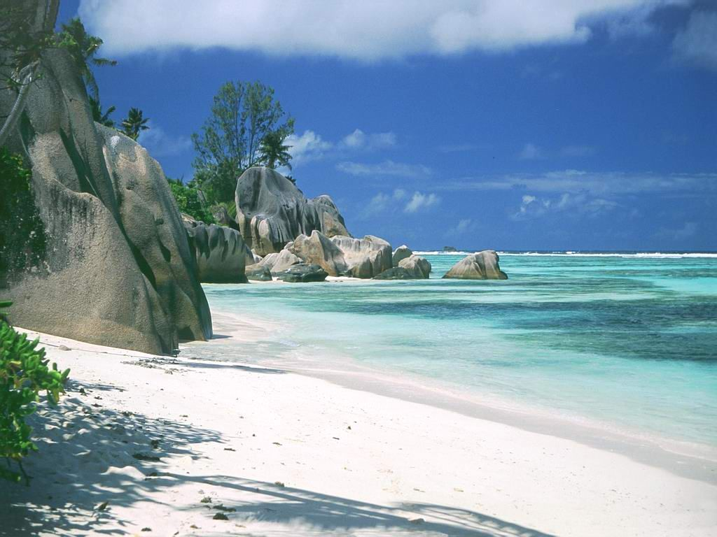 Beautiful Clear Water And White Sand Beaches