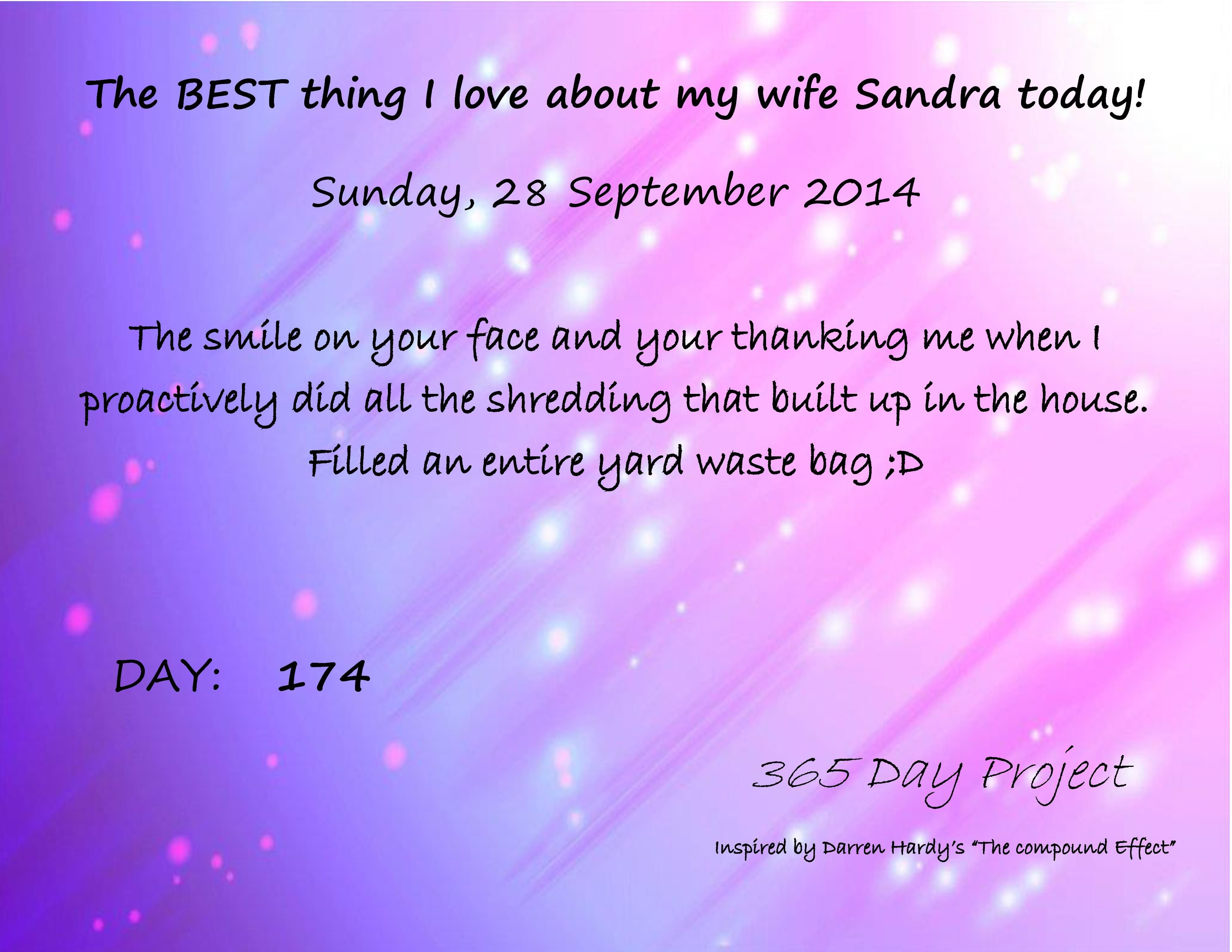 sept 28 My love, Thoughts, Darren hardy