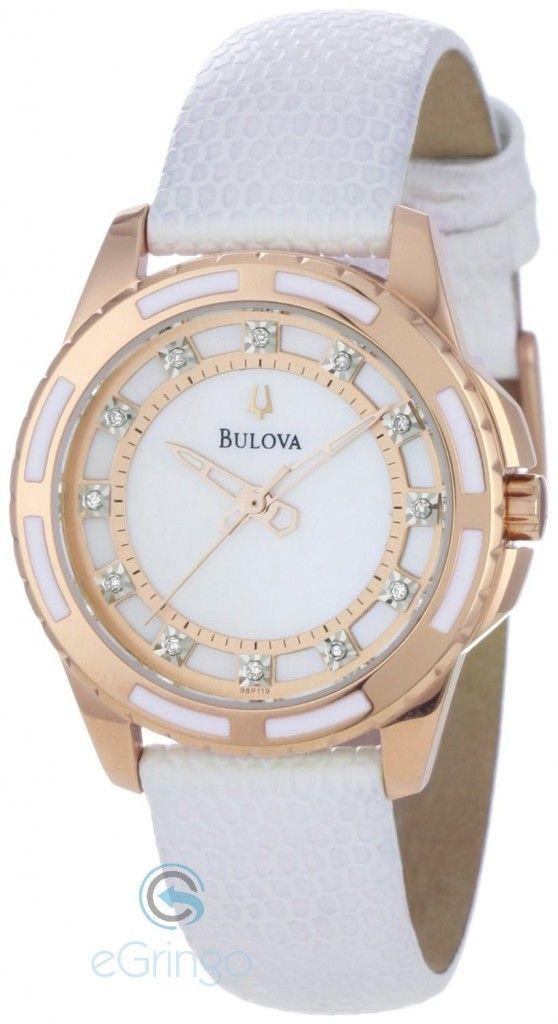 Relógio Feminino Branco e Dourado Quero um.   sss   Watches, Bulova ... 08160567cd