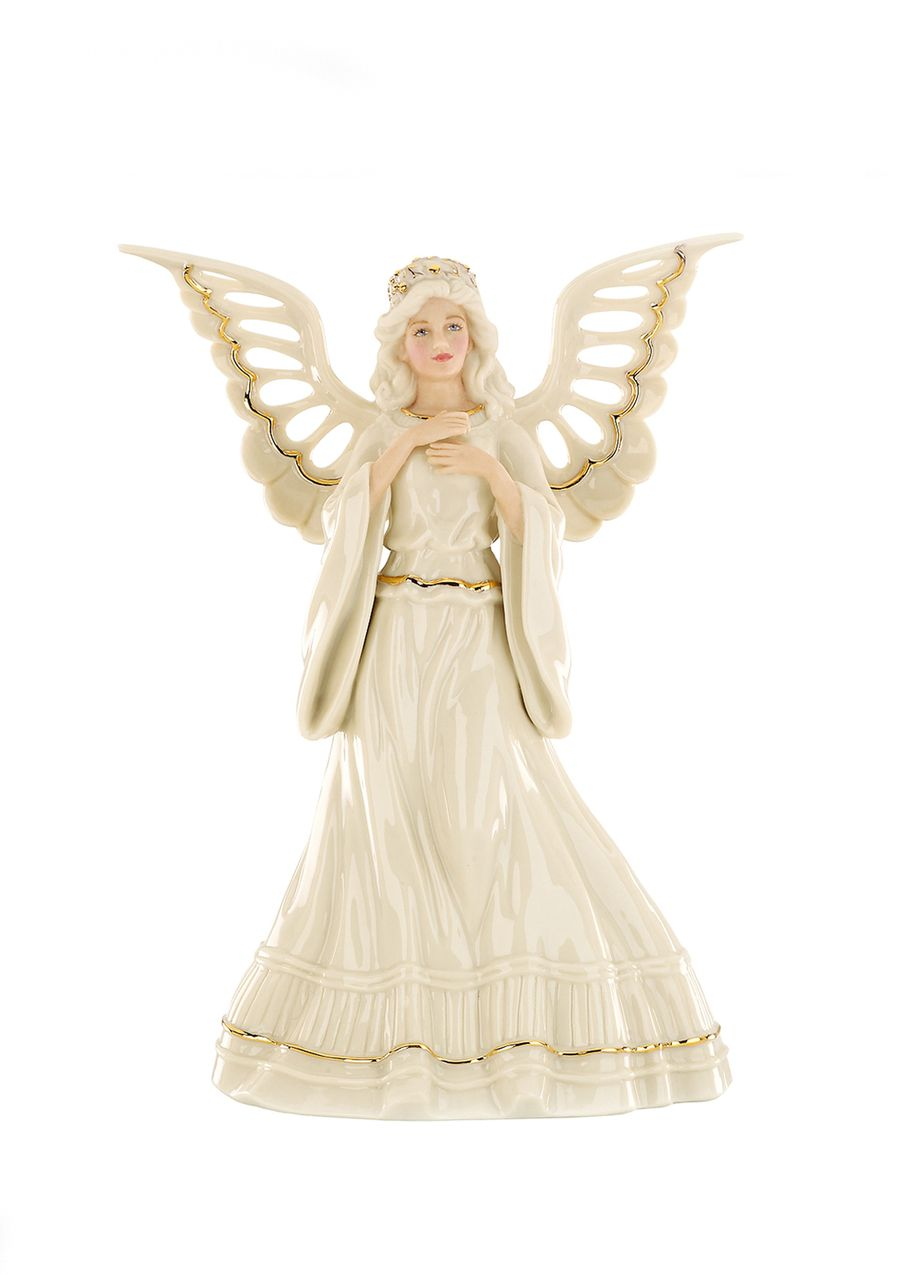 Beautiful Lenox Christmas Tree Toppers Part - 2: LENOX Angelic Visions Adoring Angel Tree Topper
