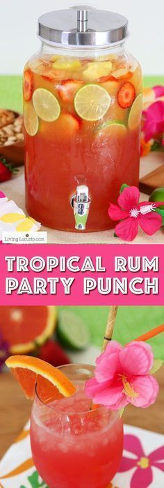Tropical Rum Punch #hawaiianluauparty