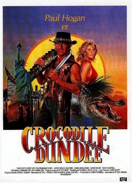 Pin De Diego Gave En Cine De Ayer Carteleras De Cine Dundee Cocodrilo Dundee