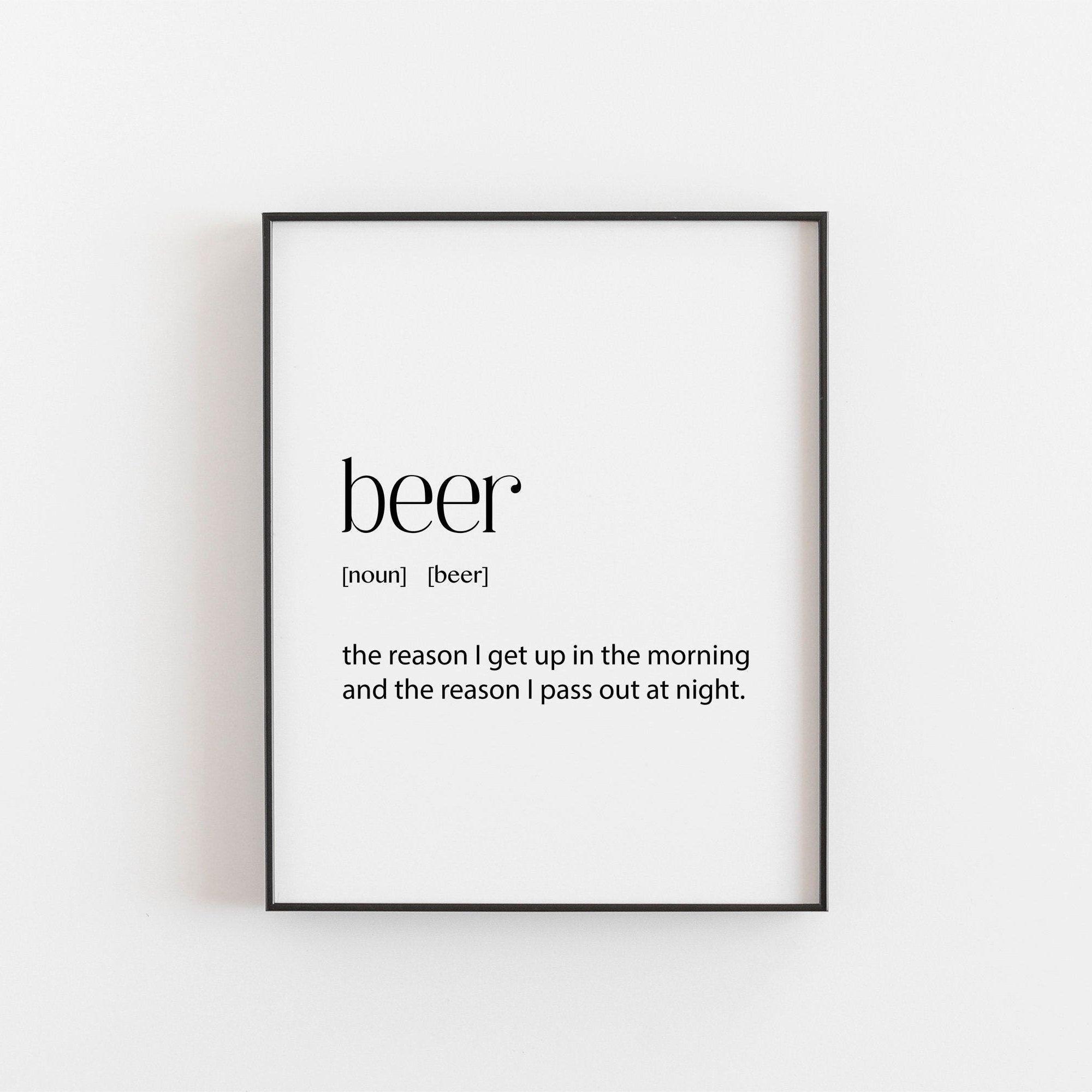 Beer Poster Beer Gifts Beer Wall Art Beer Decor Beer Printable
