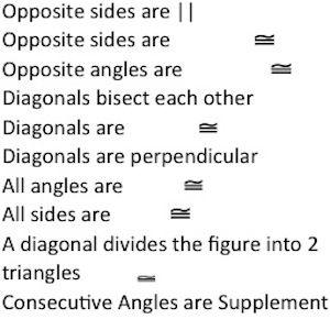 properties of parallelogram   Math Board   Pinterest