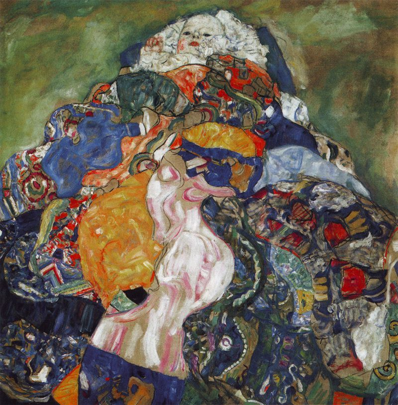 Gustav Klimt, Baby, 1917-18, oil on canvas, 110 x 110 cm, Private collection