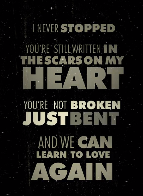 I Never Stopped Youre Still Written In The Scars On My Heart You