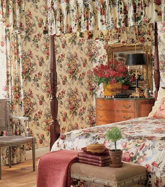 English Floral Wallpaper And Bedding English Charm